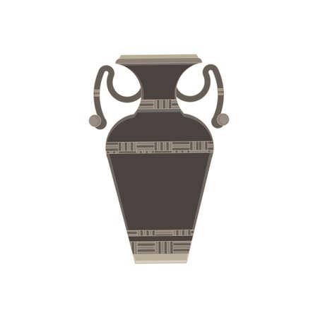 cruet: Bottle, cruet, flask, jar monochrome flat icon in gray color theme illustration object