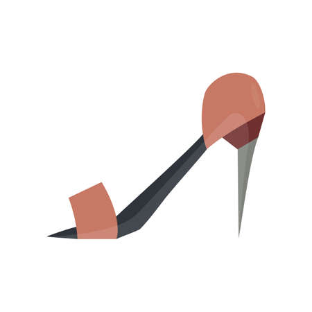 rhythmical: height heel flat icon in vintage color theme illustration object