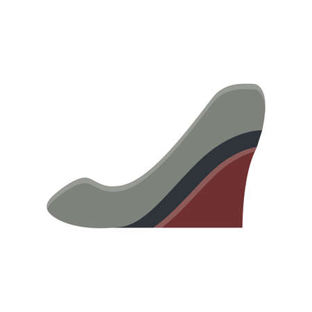 heel strap: slink back  flat icon in vintage color theme illustration object