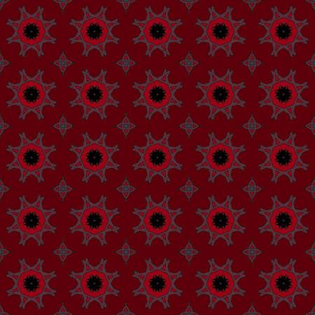 Universal-Jahrgang Farbe Vektor nahtlose Muster, Fliesen. Endlose Textur kann für Tapeten, Muster füllt, Web-Seite Hintergrund, Oberflächenstrukturen. Geometrische Ornamente. Illustration