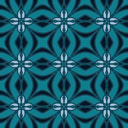 cerulean: Universal cerulean blue color vector seamless patterns, tiling. Endless texture can be used for wallpaper, pattern fills, web page background,surface textures. Geometric ornaments. Illustration