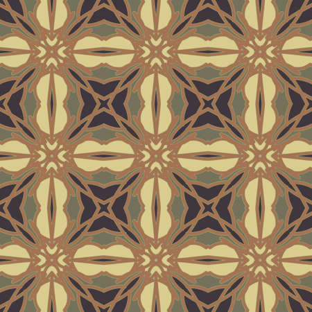 Universal dark chestnut color vector seamless patterns, tiling. Endless texture can be used for wallpaper, pattern fills, web page background,surface textures. Geometric ornaments. Illustration