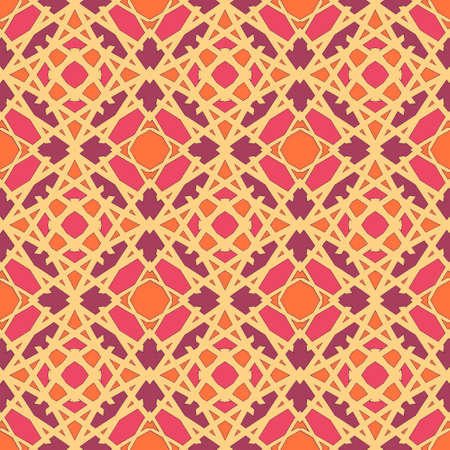 Universal dark peach color vector seamless patterns, tiling. Endless texture can be used for wallpaper, pattern fills, web page background,surface textures. Geometric ornaments. Illustration