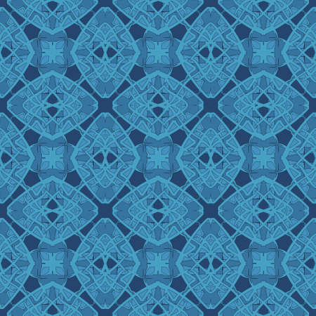 royal blue: Universal royal blue color vector seamless patterns, tiling. Endless texture can be used for wallpaper, pattern fills, web page background,surface textures. Geometric ornaments. Illustration