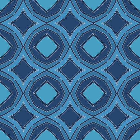 Universal royal blue color vector seamless patterns, tiling. Endless texture can be used for wallpaper, pattern fills, web page background,surface textures. Geometric ornaments. Illustration