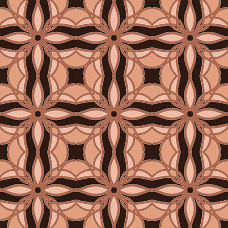 Universal coral color vector seamless patterns, tiling. Endless texture can be used for wallpaper, pattern fills, web page background,surface textures. Geometric ornaments.