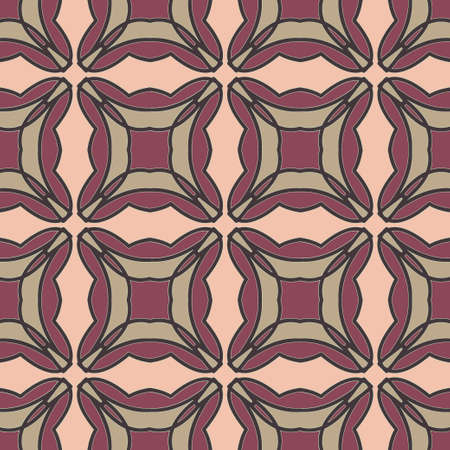 mauve: Universal mauve color vector seamless patterns, tiling. Endless texture can be used for wallpaper, pattern fills, web page background,surface textures. Geometric ornaments. Illustration