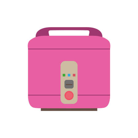 Cooker rice icon vector pot electric kitchen illustration food kitchenware equipment cooking utensil