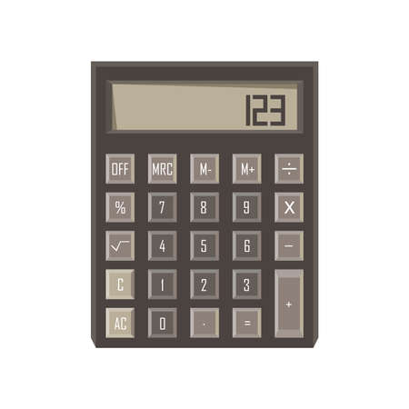 electronic background: Calculator icon vector isolated button design sign illustration Illustration