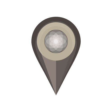 tack: Pin map vector icon isolated white symbol push design location Illustration