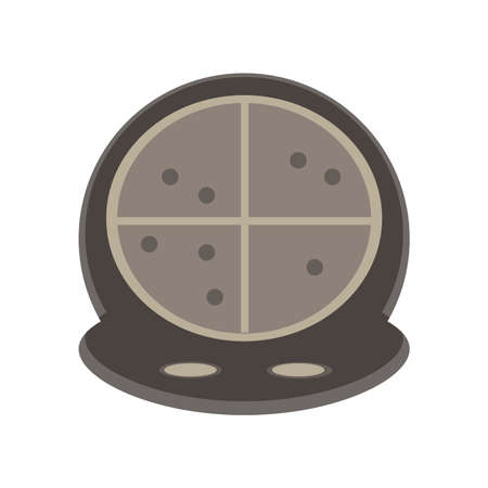 Radar vector screen background icon illustration sonar symbol. Military hud target search circle. Illustration