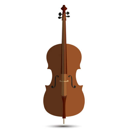 Cello music orchestra background isolated illustration violin vector instrument musical. Illustration