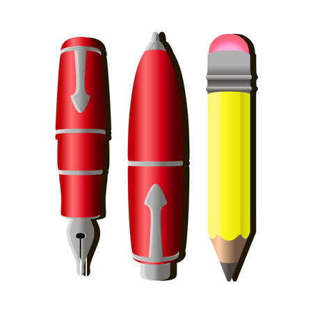 Writing pen vector pencil icon tools design isolated illustration Illustration