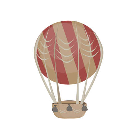 Hot air balloon in the sky icon.