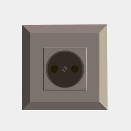 Prise de courant électrique icône vecteur isolé illustration tirée de la vie Banque d'images - 85680386