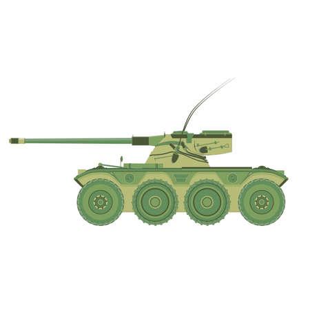 Tank vector military war icon.