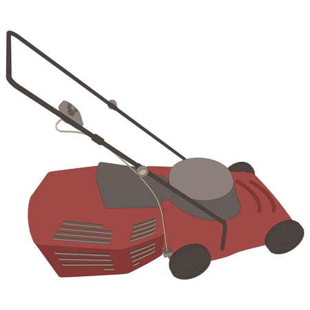Lawn mower icon vector grass gardening mowing garden illustration equipment riding tool symbol