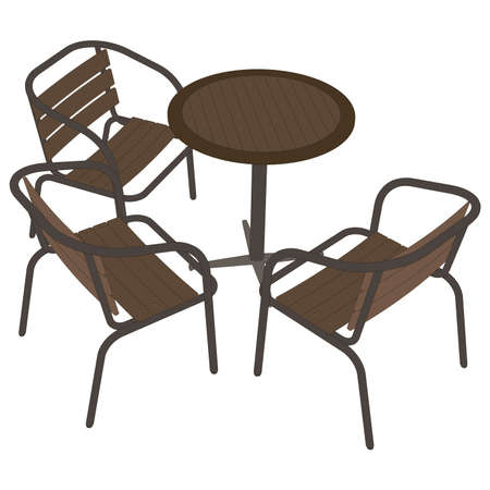 dinner date: Table restaurant cafe vector illustration icon dinner chair romantic flat isolated
