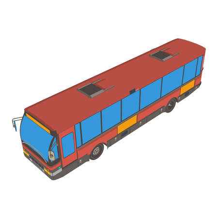 Bus red London vector vehicle isolated van transport city illustration Illustration