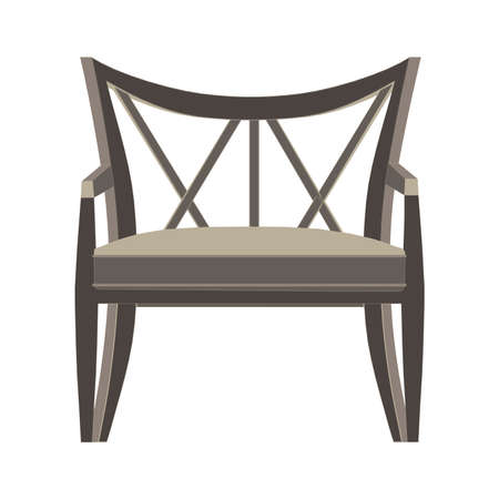 one of a kind: Chair vector icon illustration isolated view furniture design flat style modern retro
