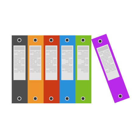 Binders office folder ring icon file vector. Document paper blank isolated business archive illustration case