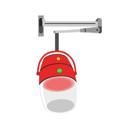 Hair steamer vector icon. Blender machine, mixer, oven, fridge and more.