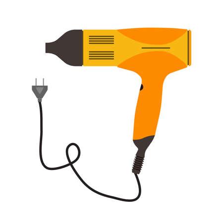 Hair dryer icon salon beauty symbol illustration.