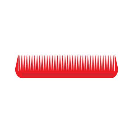 Spazzola di stile dell'illustrazione isolata icona dei capelli del pettine.