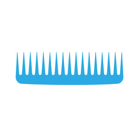 Comb hair icon isolated illustration style brush.