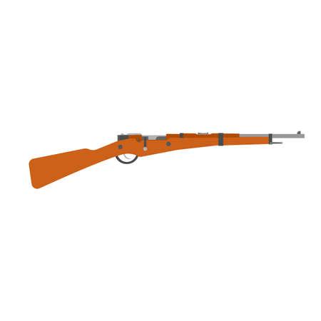 Rifle vintage vector gun shotgun hunting illustration old. Retro weapon war isolated hunter logo