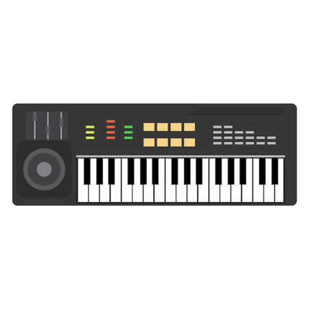 Music piano keyboard vector. Background musical illustration keys jazz. Poster concert design instrument art sound classical note Vectores