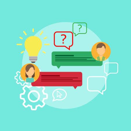 FAQ problema domanda icona soluzione vettore. Isolato chiedi la risposta del servizio di dubbio di concetto creativo. Il segno di conoscenza aiuta il testo di consulenza aziendale. Helpdesk di assistenza frequente. Sapere come supporto informativo.