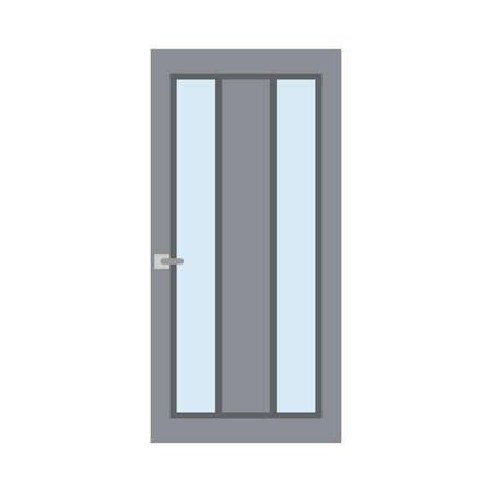 Décoration de porte de maison style de façade de concept traditionnel. Entrée de maison icône vecteur plat