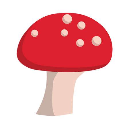 Mushroom organic vegetarian gourmet ingredient cooking vector flat icon