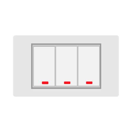 Way rocker light switch technolog home equipment flat vector icon Иллюстрация
