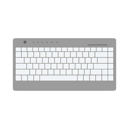 Keyboard top view communication equipment device computer. Flat vector icon 矢量图像