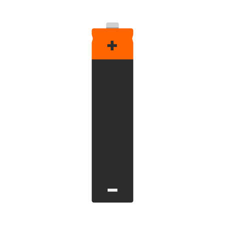 Disposable battery recycling pollution accumulator AA. Eco vector flat icon power. Stock Illustratie
