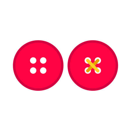 Abito pulsante rosso abbigliamento simbolo tessuto pittogramma vettore icona set. Accessorio artigianale cucito su misura