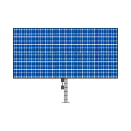 Solar blue collector electrical equipment vector icon sun panel. Energy power sustainable installation technology system