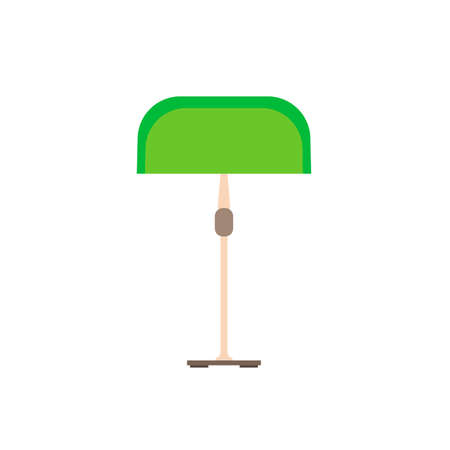 Modern green lamp electric night design vector icon. Technology symbol interior illumination equipment power furniture