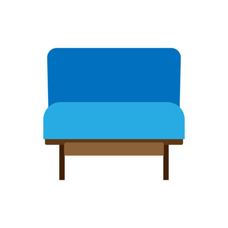 Armchair decoration comfort wooden business stylish vector icon. Relax elegant room interior front view trendy furniture