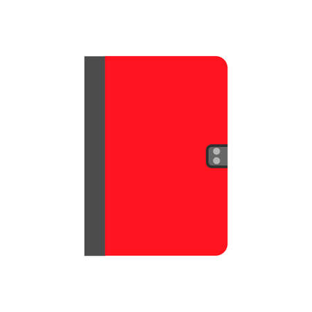 Notebook concept paper education document vector icon top view. Modern diary symbol isolated white office equipment