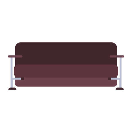 Couch sofa illustration furniture vector icon. Interior home living room style. Relax flat cozy seat. Fashion settee graphic divan