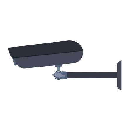 CCTV camera symbol vector icon side view. Crime system security control. Surveillance guard watching equipment