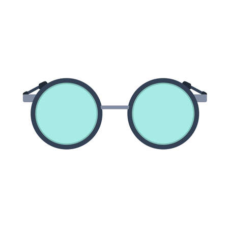 Reading glass vector icon eye lens vision isolated. Fashion spectacle frame optical view. Accessory flat geek round symbol Foto de archivo - 121850328