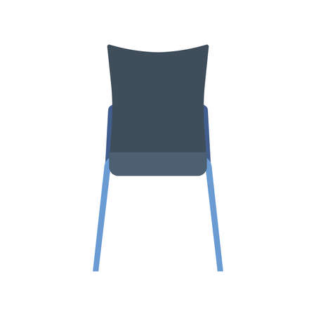 Chair cafe vector icon furniture design interior. Person flat sitting front view bistro. Cartoon cafeteria element  room