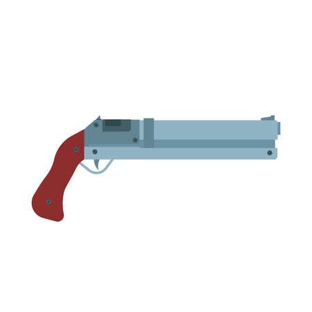 Icône de vecteur de fusil de chasse illustration rifel. Cible de canon d'arme de fusil de chasse. Canard de calibre simple marron munition Vecteurs