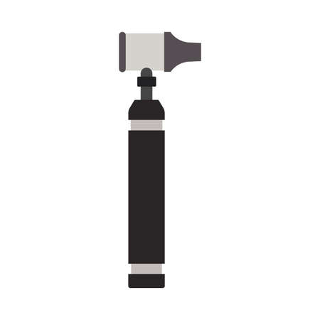Medical otoscope tool vector icon ent ear. Doctor audiologist illustration first aid equipment hospital nstrument checkup