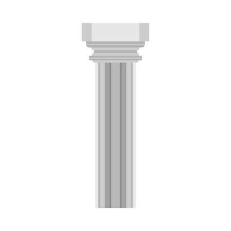 Column history classical symbol monument architectural element vector icon. Flat pillar exterior marble sculpture bar Reklamní fotografie - 121850118