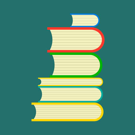 Book study vector library reading education. Literature icon isolated white side view university